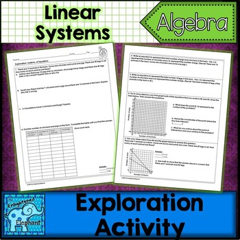 Linear Systems of Equations Exploration Activity