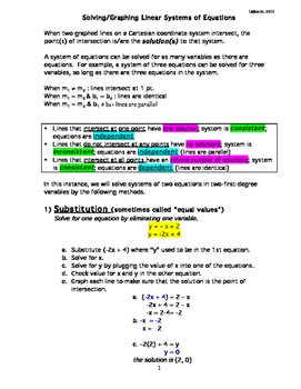 Linear Systems of Equations: Podcast + Study Guide