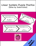Linear Systems of Equations Puzzle Practice Activity