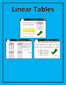Linear Table Functions