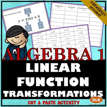 Linear Transformations Cut & Paste Activity