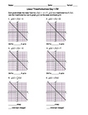 Linear Transformations Day 1 Classwork