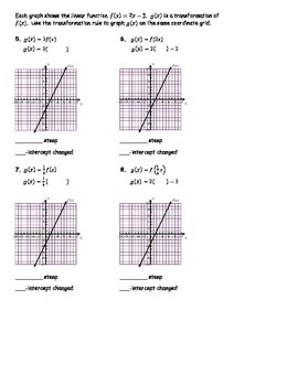 Linear Transformations Day 1 NOTES