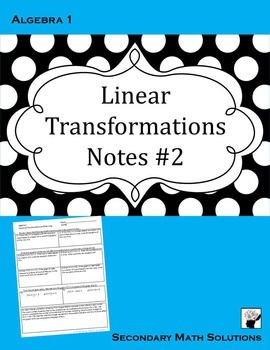 Linear Transformations Notes #2