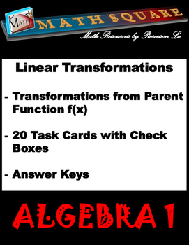 Linear Functions - Identifying Linear Transformations from Parent Function