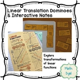Linear Translations Dominoes and Interactive Notebook Activity