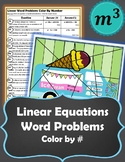 Linear Word Problems Color by Number