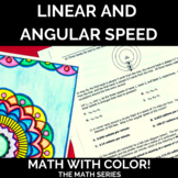 Linear and Angular Speed Math with Color