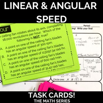 Linear and Angular Speed Task Cards