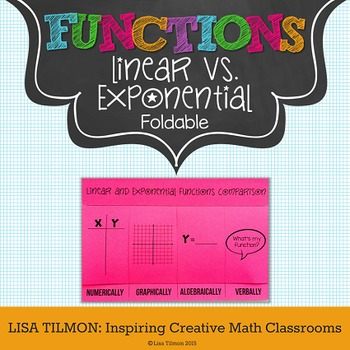 Linear and Exponential Functions Comparison Foldable