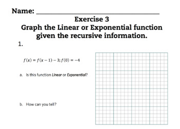 Linear and Exponential Functions Complete Bundled Unit Lessons 1-6