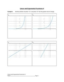 Linear and Exponential Functions Lesson 4 of 9