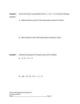 Linear and Exponential Functions Lesson 9 of 9