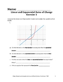 Linear and Exponential Rates of Change Lesson 1 of 6