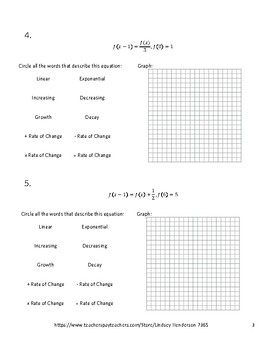 Linear and Exponential Rates of Change Lesson 3 of 6
