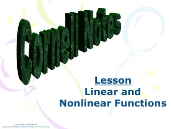 Linear and Nonlinear Cornell Notes