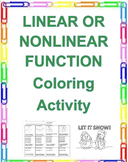 Linear and Nonlinear Functions Coloring Activity 8.F.A.3