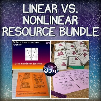 Linear And Nonlinear Functions Activities Bundle By Idea Galaxy Tpt