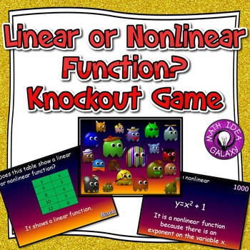 Linear and Nonlinear Functions Activity- Knockout Game
