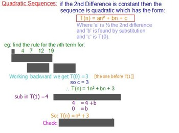 Linear and Quadratic Sequences Lesson Notes on Active Inspire