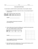Linear equation word problems table and graph