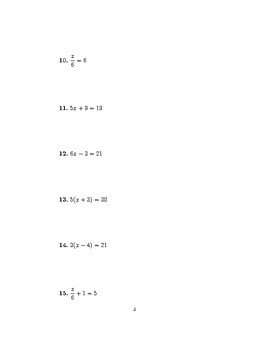 Linear equations (introduction)