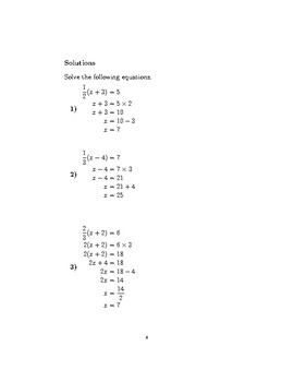 Linear equations with brackets and fractions