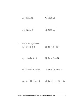Linear equations with brackets and the variable in both sides