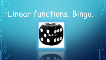 Linear function. Bingo