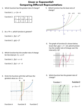 Linear or Exponential Problems