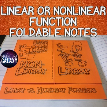 Linear or Nonlinear Functions Foldable Notes