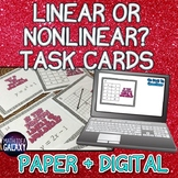 Linear or Nonlinear Task Cards - Printable & Digital Resource