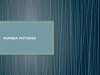 Linear relationships - identifying number patterns
