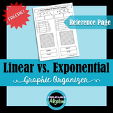 Linear vs. Exponential Functions - Graphic Organizer - Freebie!