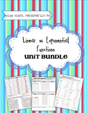 Linear vs. Exponential Functions - Secondary One Unit Bundle