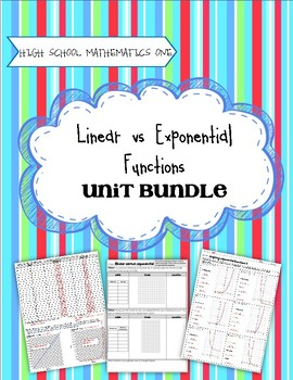 High School Math 1: Linear and Exponential Functions