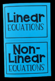 Linear vs. Nonlinear Equations (Foldables)