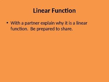 Linear vs Non-Linear Walk and Identifying Increasing/Decreasing
