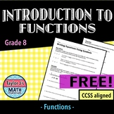 Introduction to Functions Worksheet