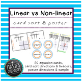 Linear vs Nonlinear activities: card sort & poster