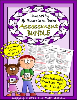 Linearity & Analysis Worksheets & Test - 8th Grade