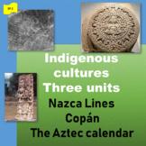 Nazca Lines (1), Copán (2), The Aztec calendar (3) - SP Be