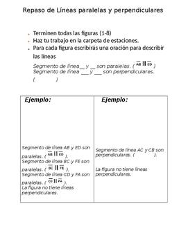 Lineas Paralelas y Perpendiculares en figuras de 2 dimensiones