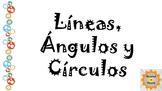 Lineas, angulos y circulos Tipos Clasificacion Medida Repaso Geometria 4 Grado