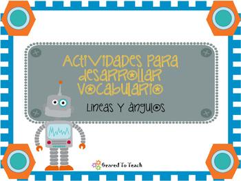 Lineas y Angulos Actividades para Desarrollar de Vocabulario