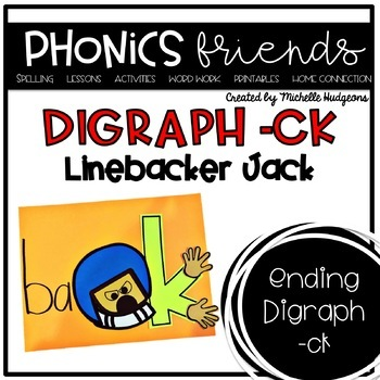 Linebacker Jack (Activities for learning digraph ck)