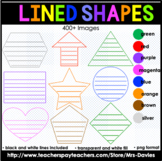 Graphic Organizer Lined Shapes Geometric 2D Shapes in Color and Black Lines