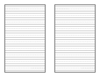 Lined Booklet Style Writing Paper