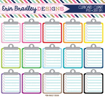 Lined Clipboard Clipart