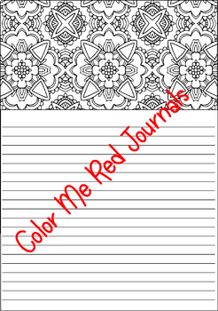Lined Coloring Journal Pages